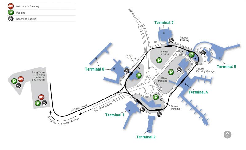jfk map terminal 8 Jfk Airport Parking John F Kennedy International Airport Parking jfk map terminal 8